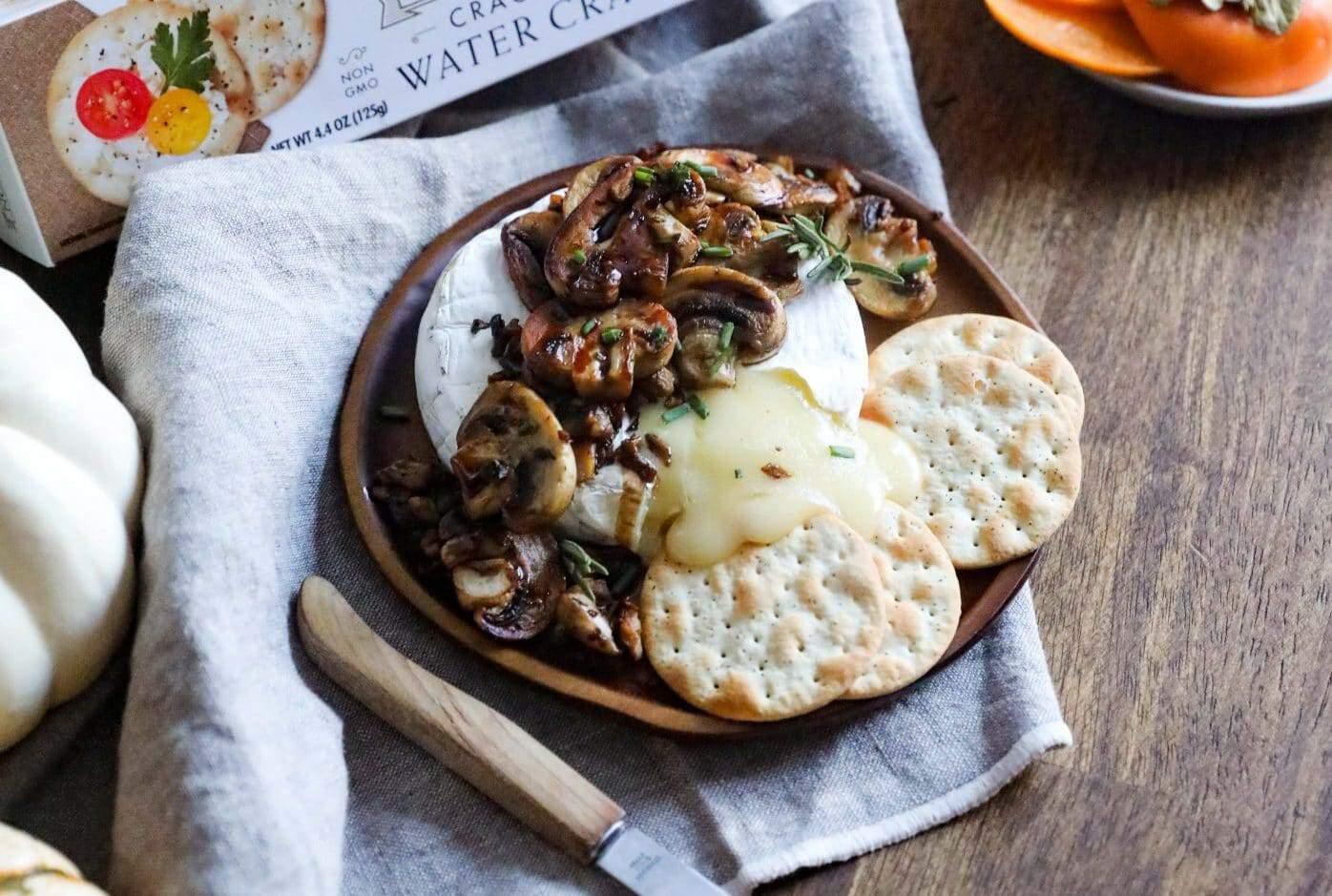 Baked Brie Mushrooms