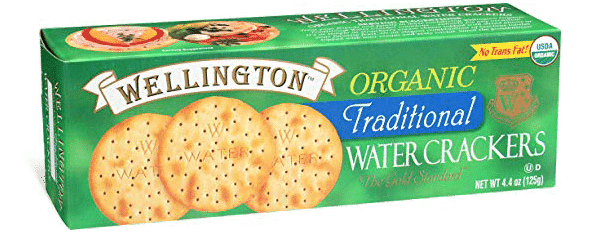 Organic traditional water crackers