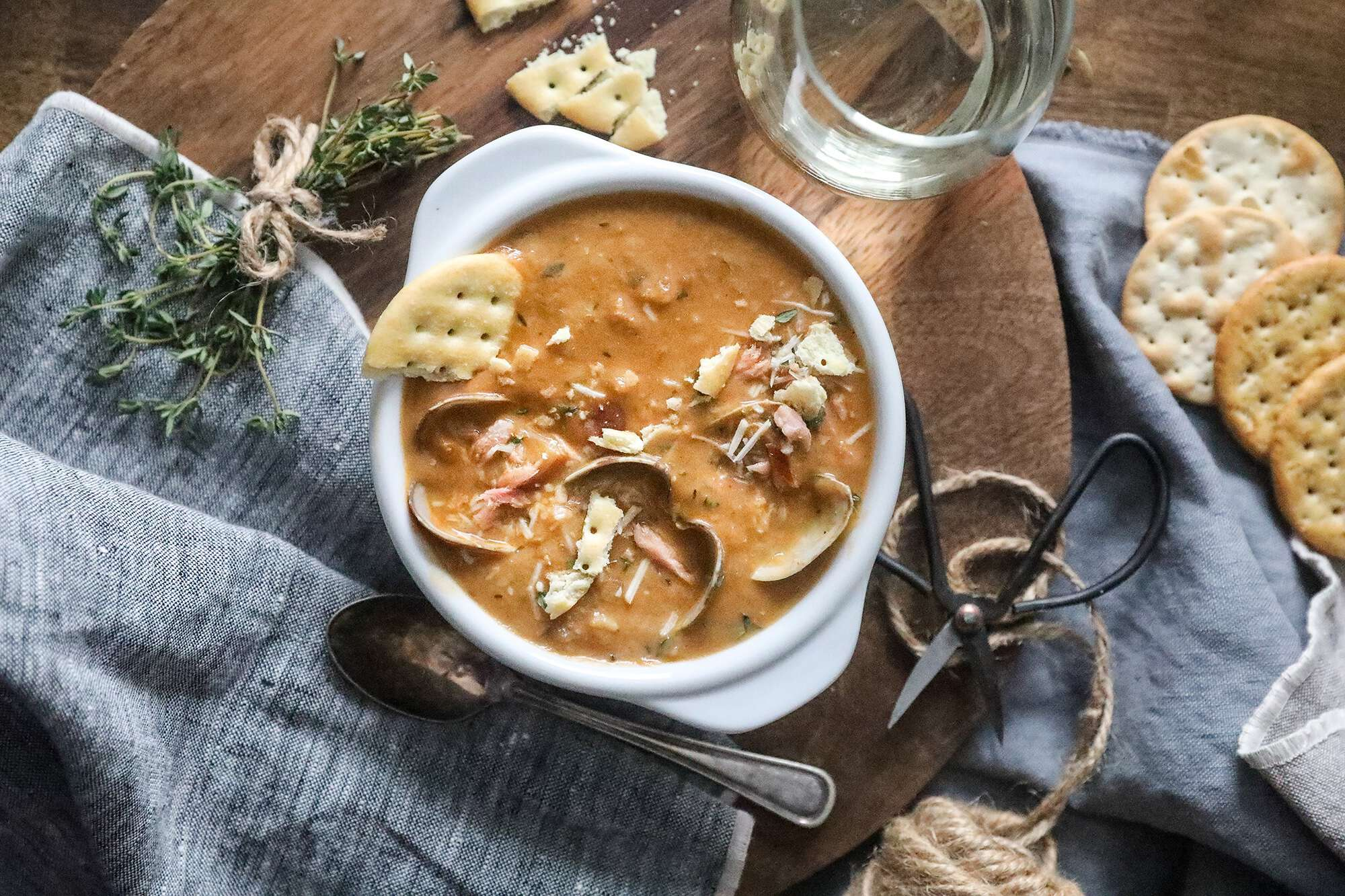 Smoked Salmon Clam Chowder