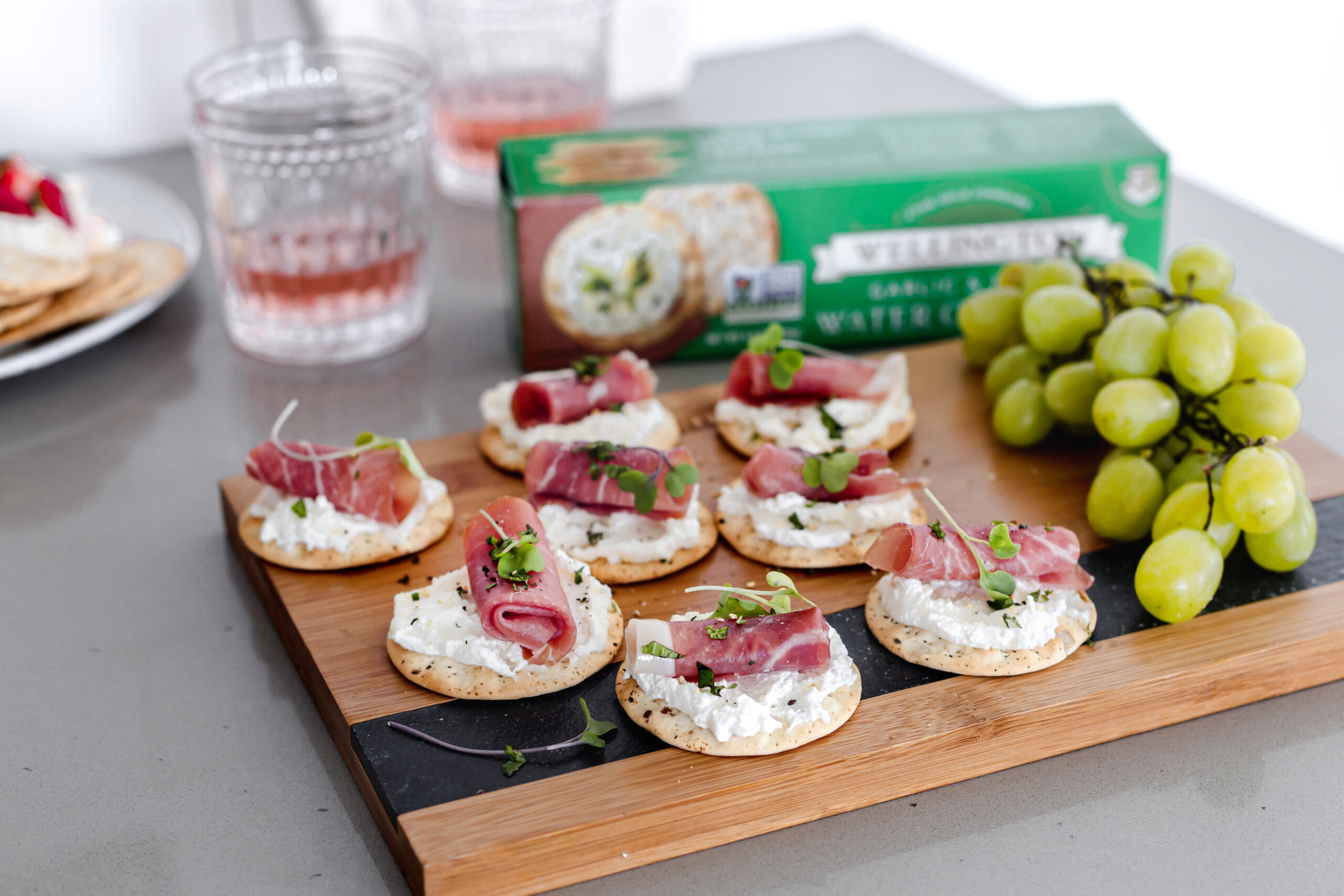 Ricotta and Prosciutto Cracker