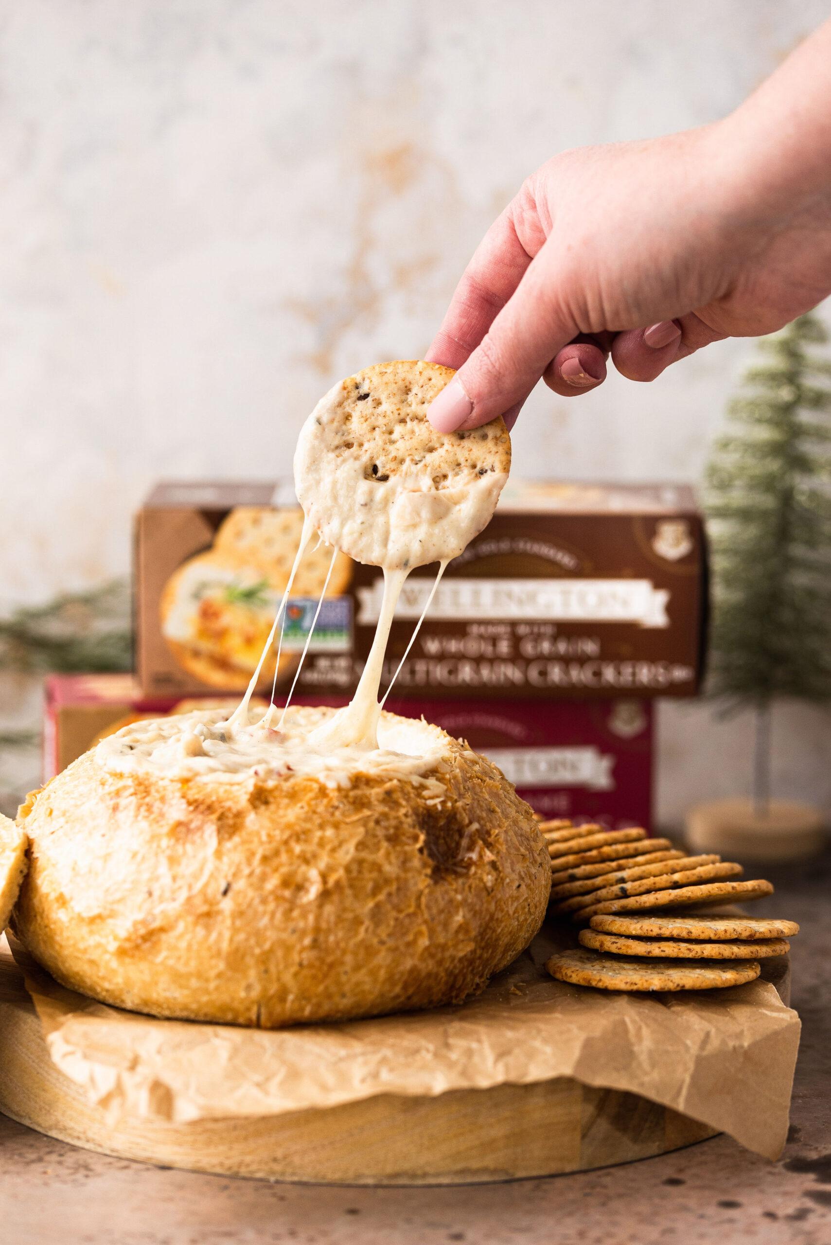 Cheesy Bacon Jam Bread Bowl
